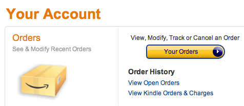 Screenshot amazon kindle orders