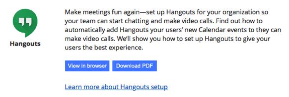 Google Apps Hangouts