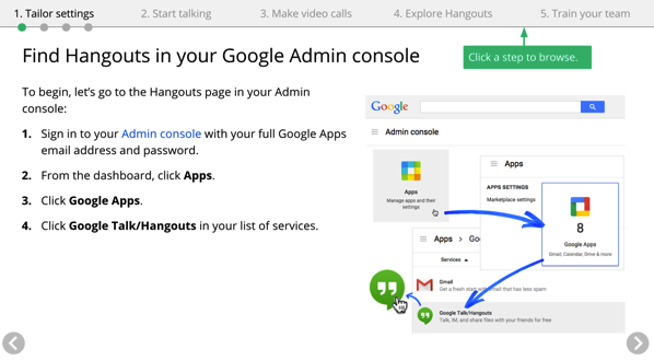 Google Apps setup instructions