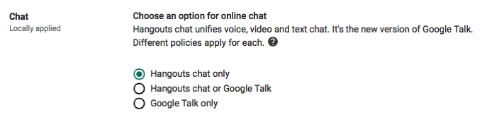 Enable Google Hangouts