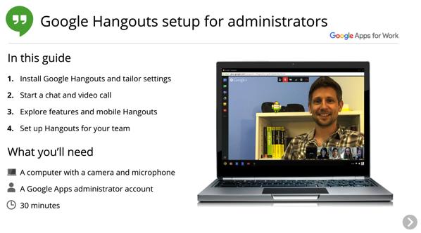 Google Hangouts Setup presentation